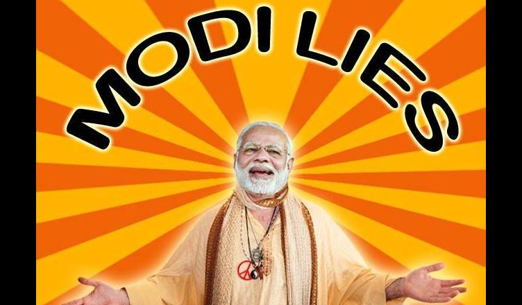 Modi lies