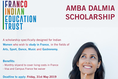 Franco Indian Education Trust invites applications for the Amba Dalmia Scholarships for Women