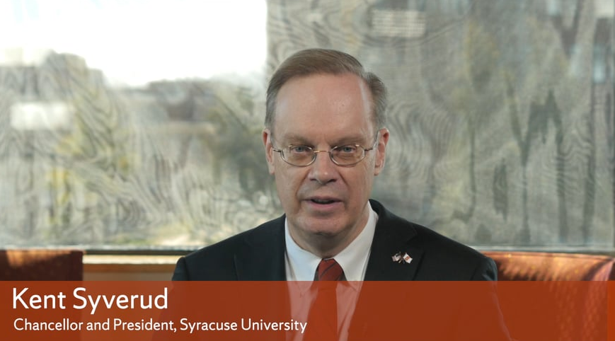 Syracuse University is a place for people from all backgrounds: Chancellor Kent Syverud  condemns on-campus hate