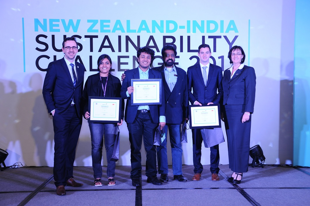 1st Runner up team for New Zealand India Sustainability Challenge 2017- Team AplhaQ