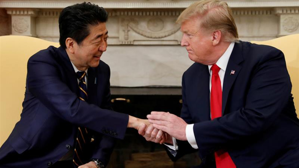 the Japanese PM and the US President
