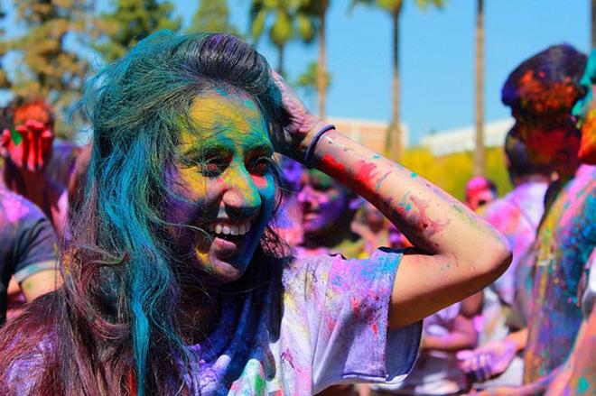 Holi celebration at Arizona State University