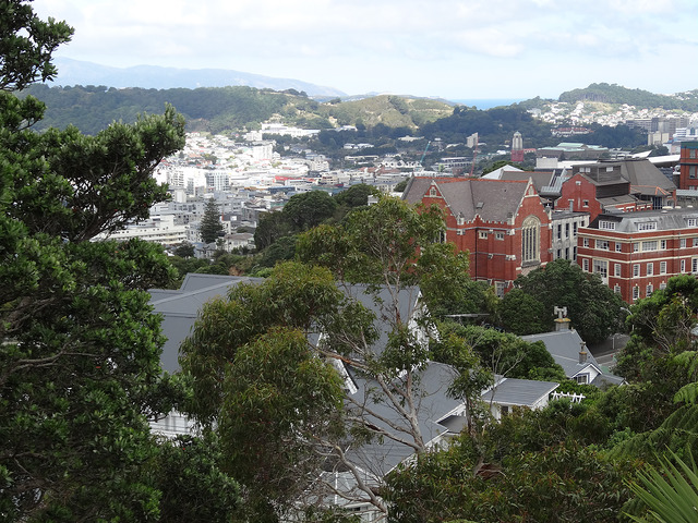 Panoramic view of Victoria University of Wellington
