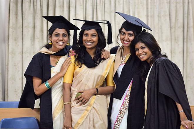 File photo of graduates of Christ University, Bangalore