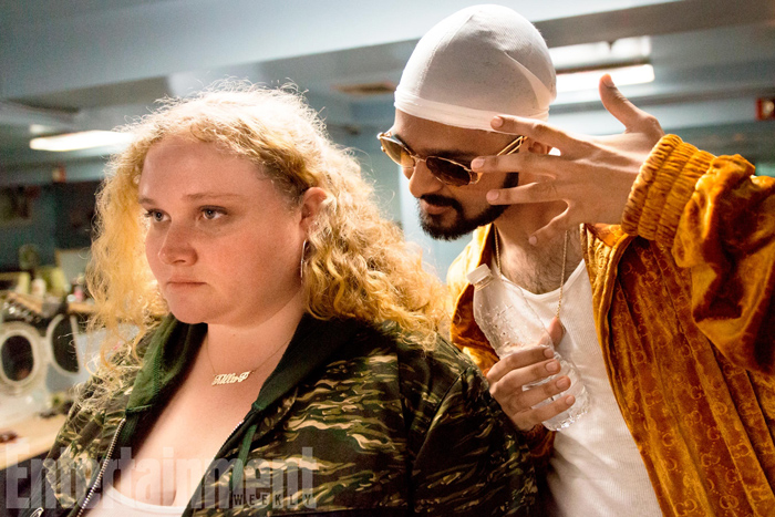 Danielle Macdonald as Patti and Siddharth Dhananjay as Jheri in Patti Cake$ (photo by Jeong Park)