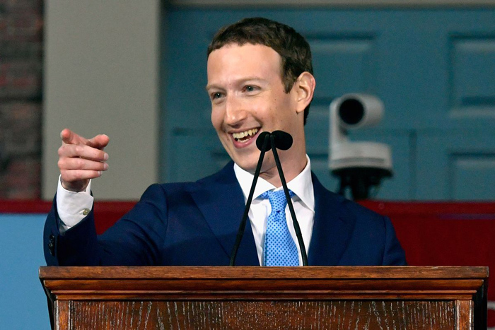 Facebook founder Mark Zuckerberg gives a rousing commencement address at Harvard University