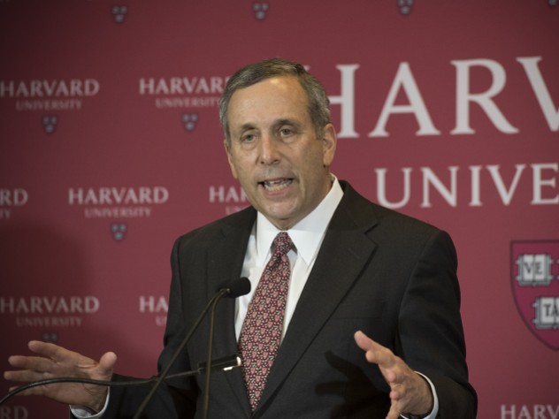 Lawrence Bacow, President of Harvard University