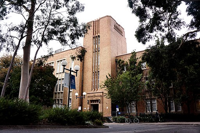 The Chemistry building at the University of Melbourne, a member of Australia's elite Group of Eight research universities