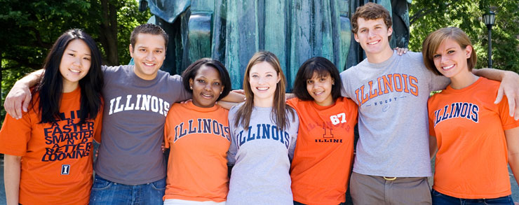 Chinese students enrolled at the University of Illinois