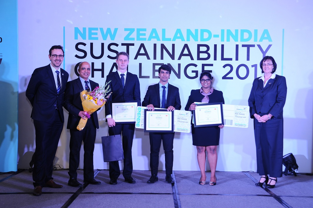 Winner Team for New Zealand India Sustainability Challenge- Team VaxiBead, Manipal