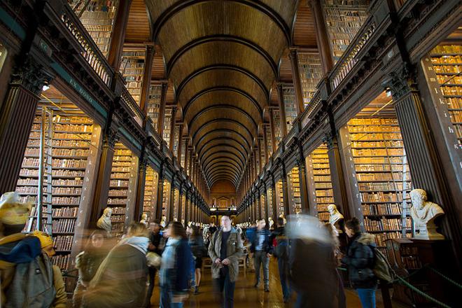 Library at Trinity College Dublin, Ireland