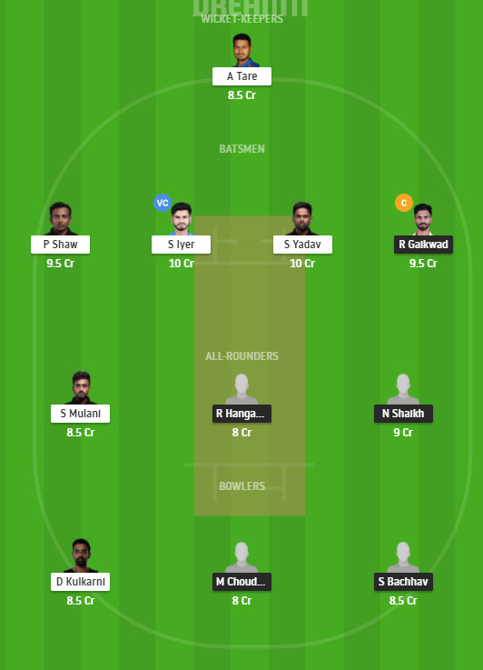 MAH vs MUM Dream11 Team