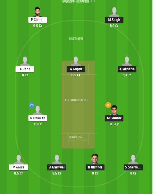 RJS vs HIM Dream11 Team