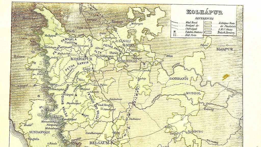 Map of Kolhapur in 1896