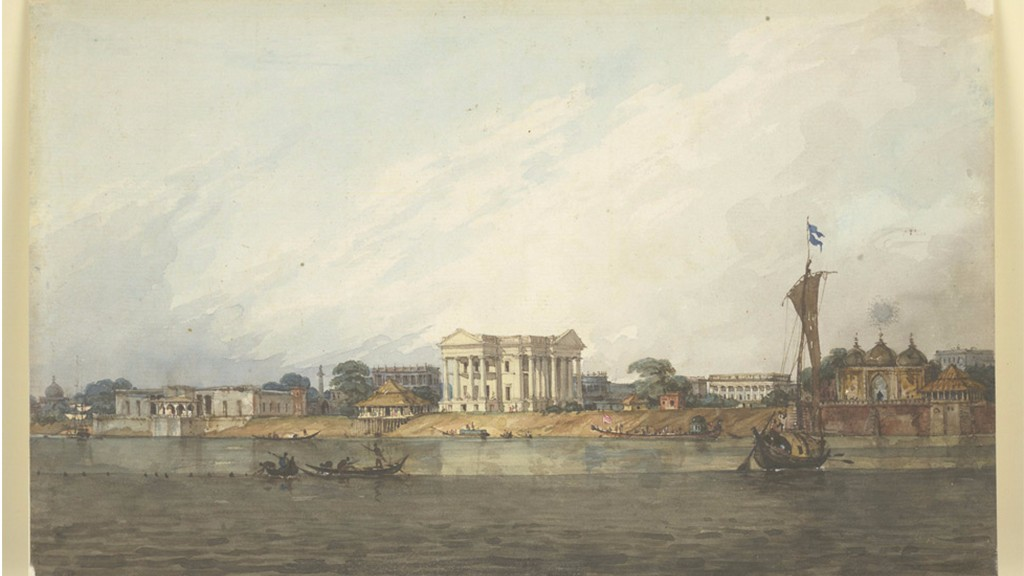 Watercolour painting of Murshidabad by Robert Smith circa 1814-1815