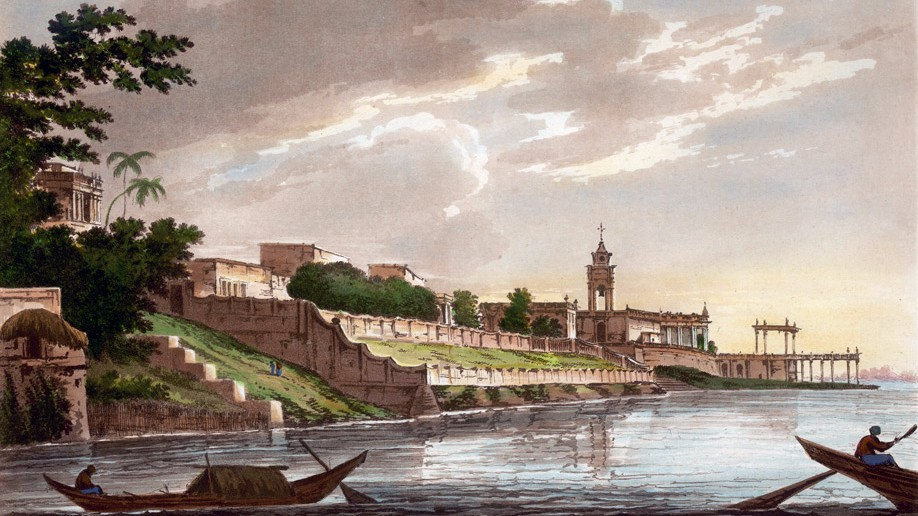 painting of the once stately banks of the River Hooghly