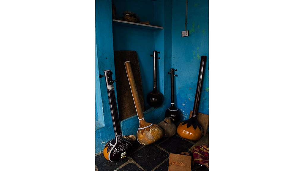 Musical instruments on display at the workshop   Ameya Marathe