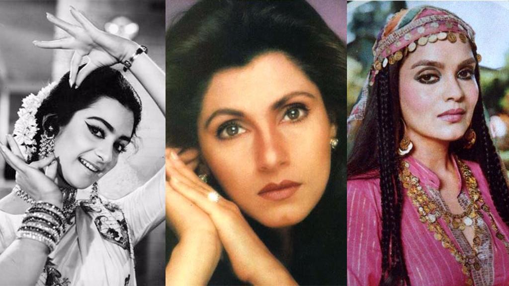 Bollywood actresses Saira Banu (L), Dimple Kapadia (center) and Zeenat Aman (R) | LHI Team