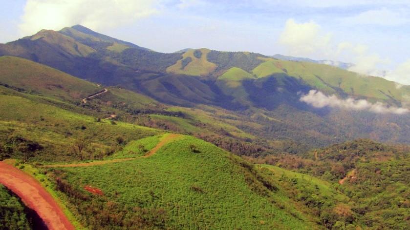 Baba Budangiri range of hills on the Western Ghats in Karnataka