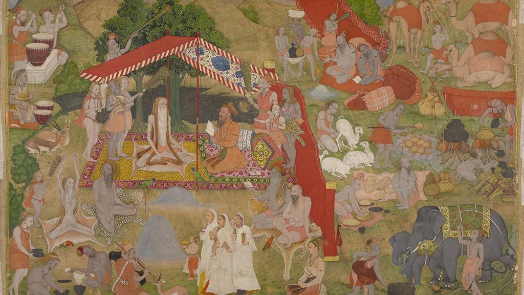 Mughals visiting monks