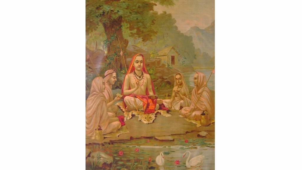 Raja Ravi Varma's painting of Sankaracharya