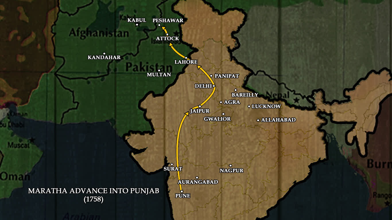 The Marathas in the 'Land of Five Rivers'