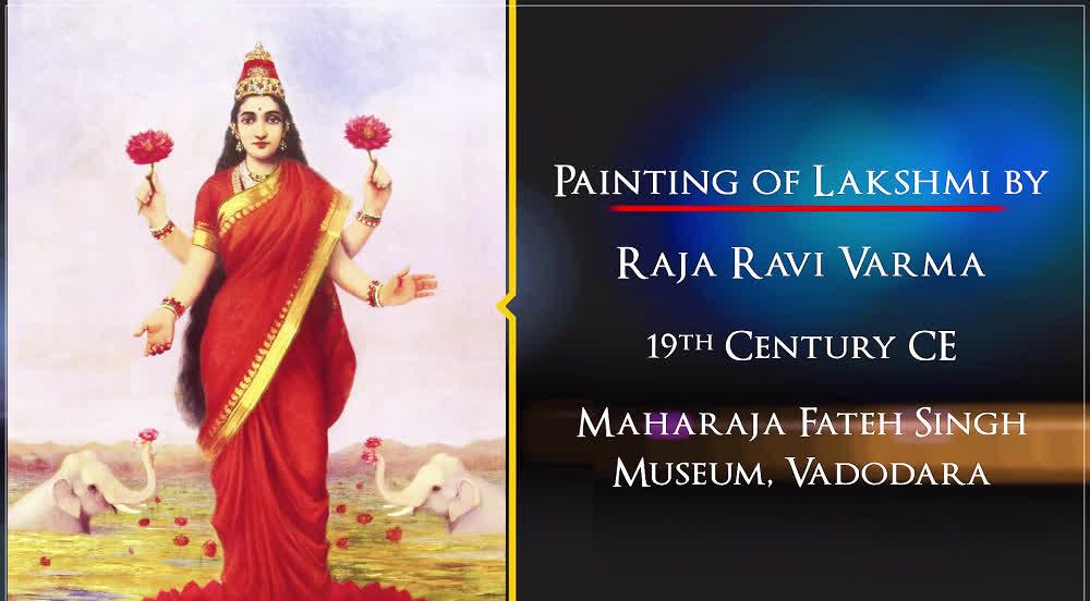 Painting of Lakshmi | Treasures of India