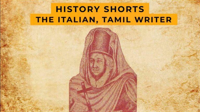 The Italian, Tamil Writer | History Shorts
