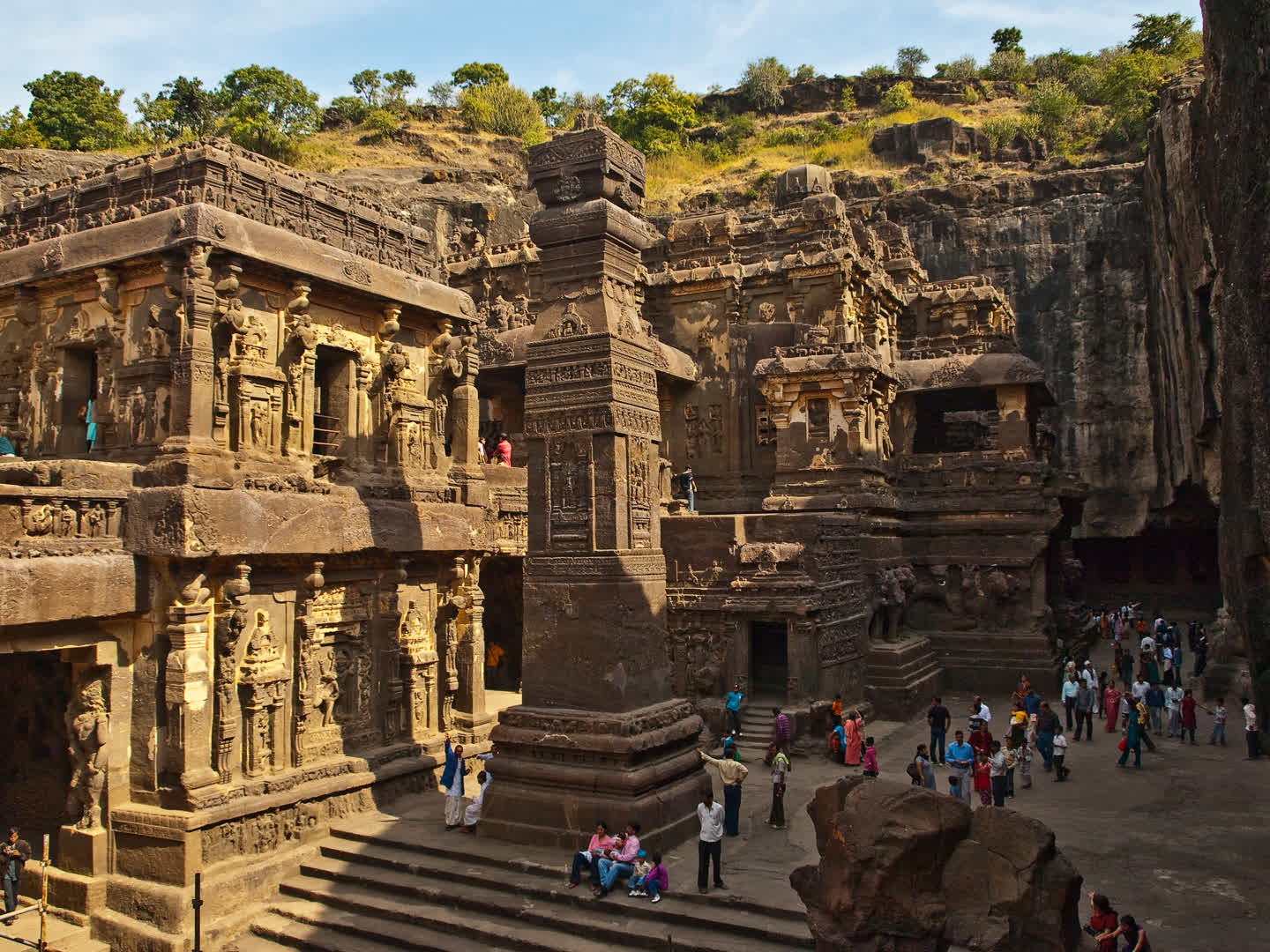 Ellora's Kailasa Temple: Built from the Top