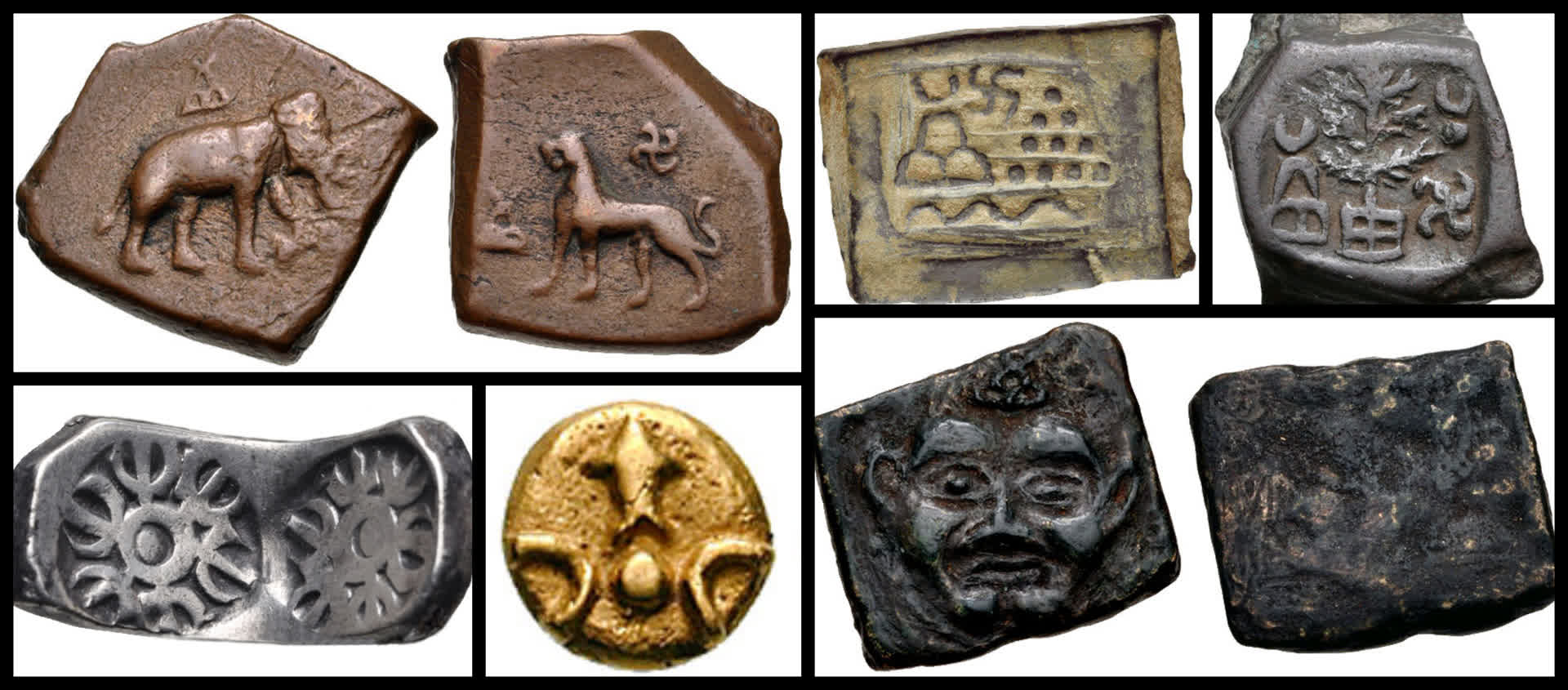 Coins unearthed from Taxila