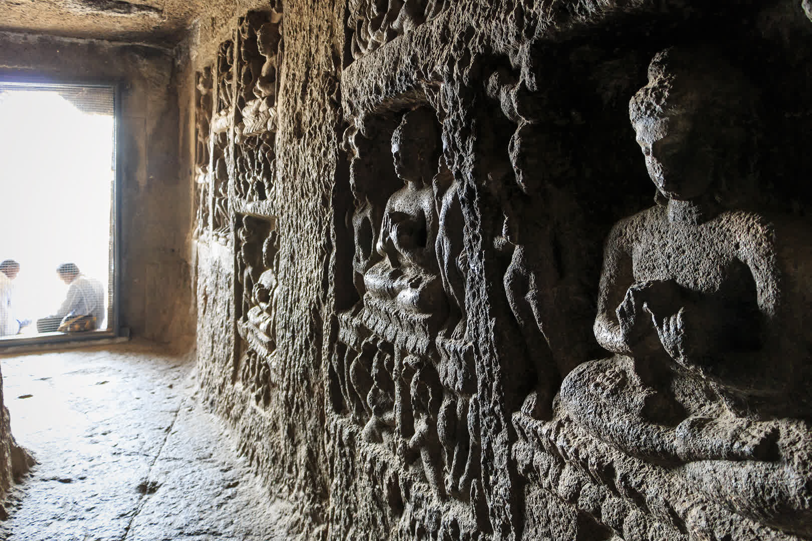 Bas Relief Buddha at the caves