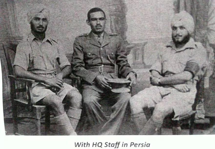 Lt Gen Sagat Singh seated in the centre in uniform