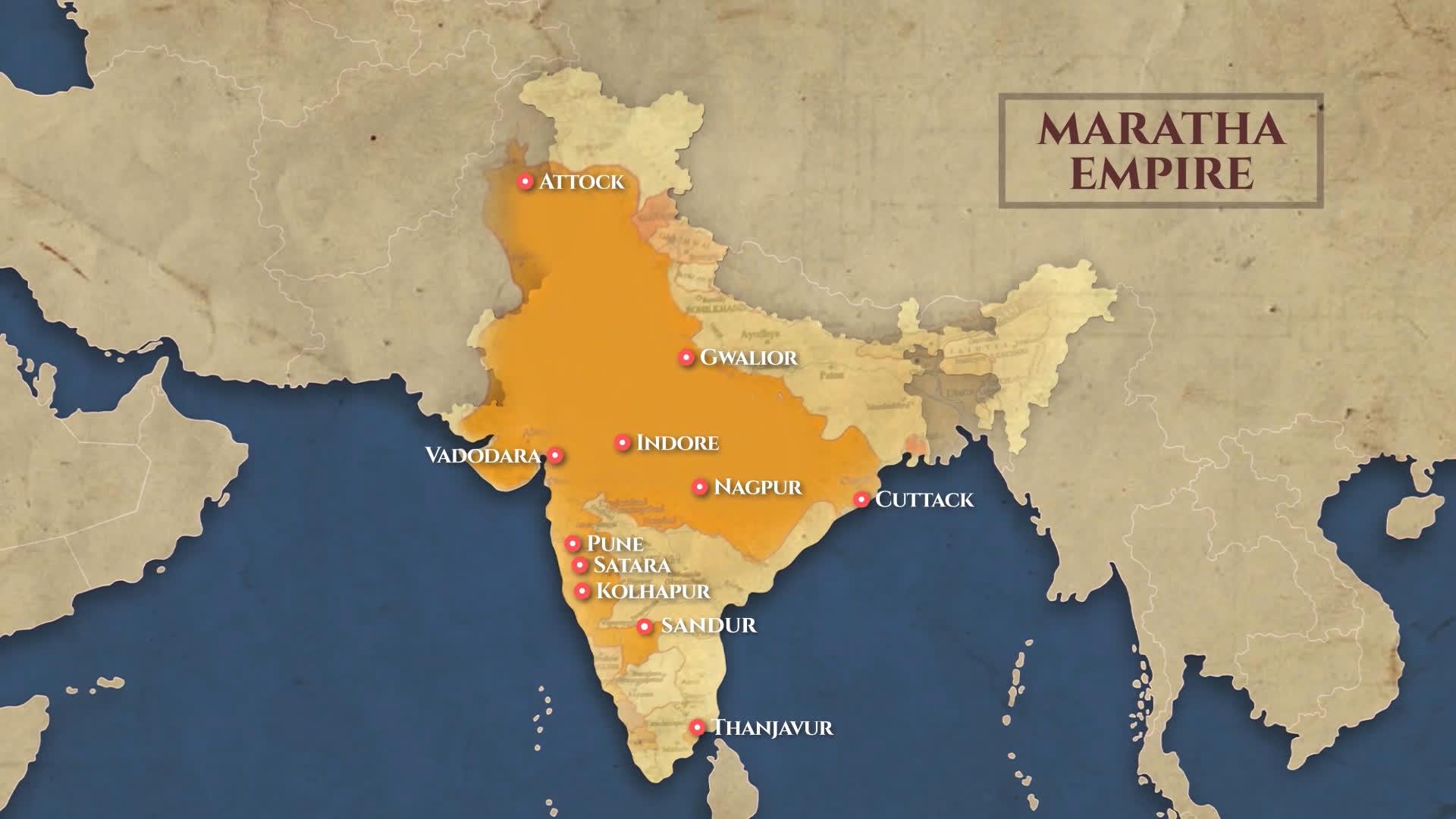 The extent of the Maratha Empire   LHI