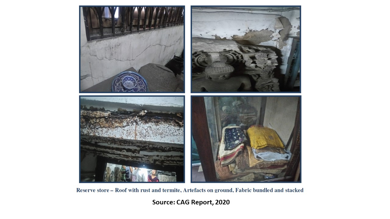 The condition of reserve store highlighted in the report by CAG | CAG Report, 2020