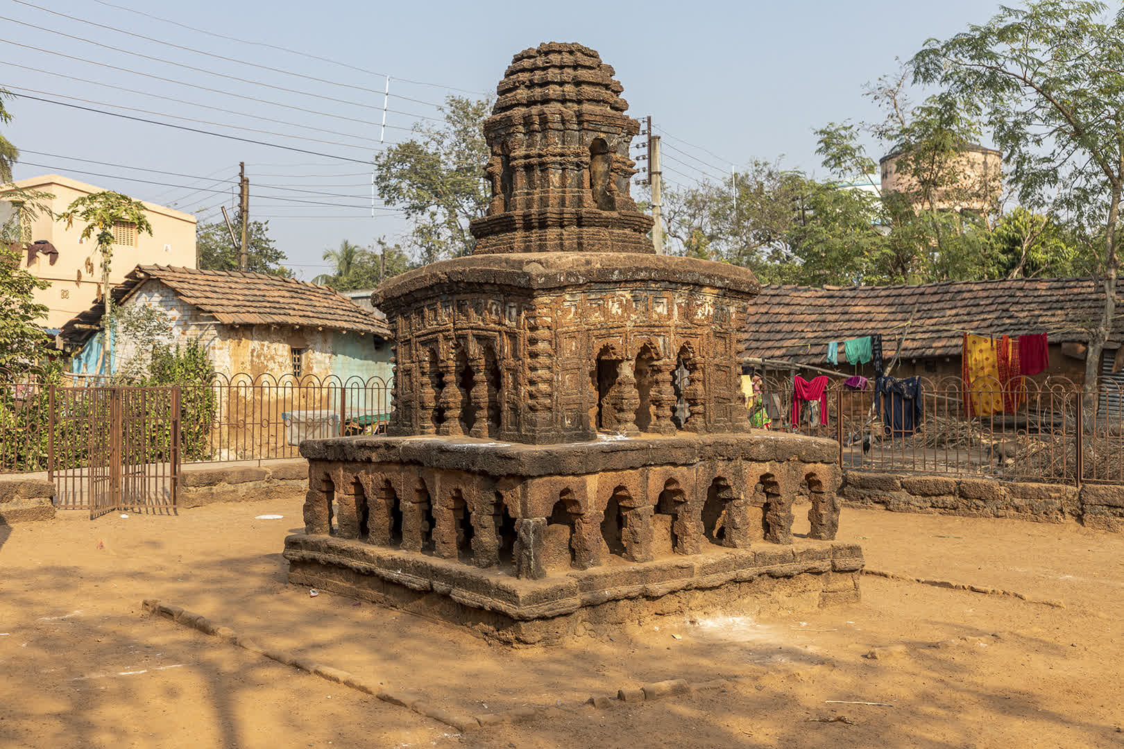 A stone chariot