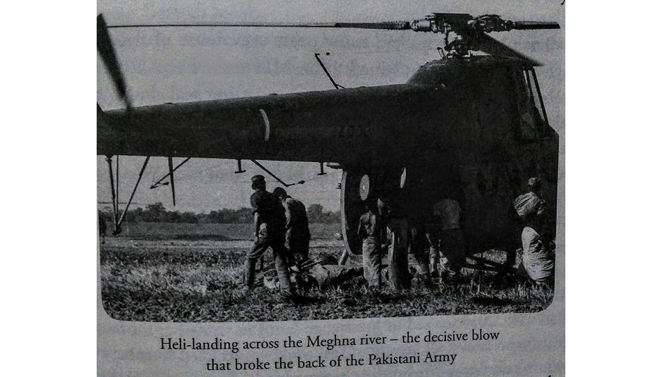 Indian Army's first heliborne operation over the Meghna River, 1971 Bangladesh Liberation War
