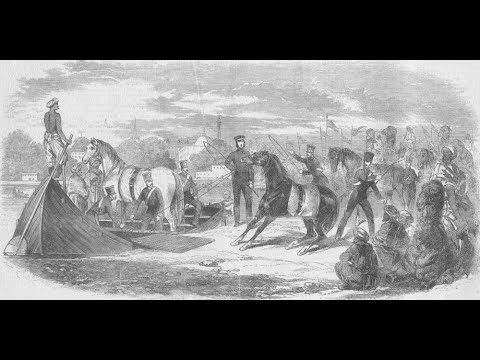 The British opening fire on tribal camps
