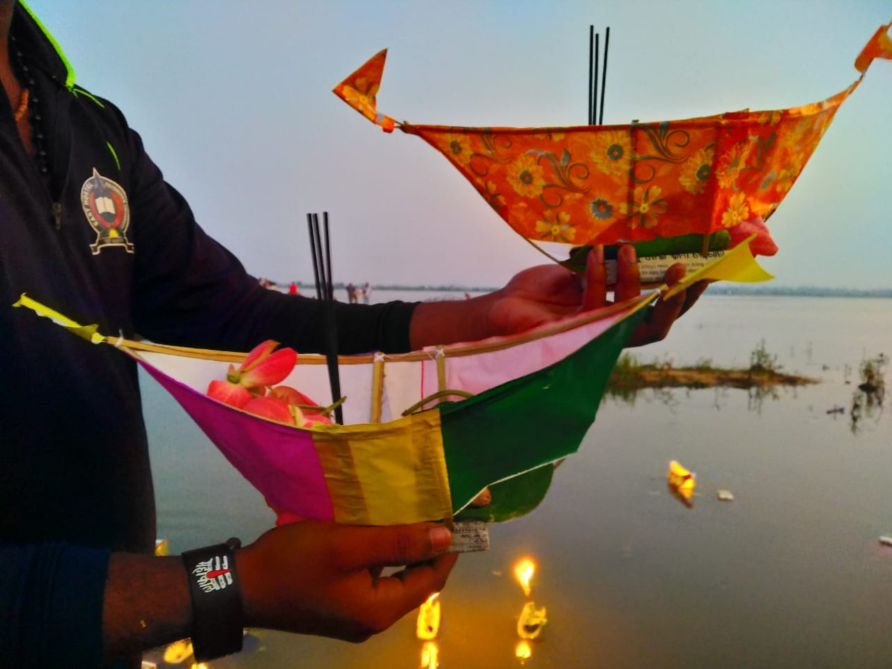 Kartika Purnima celebration at Mahanadi