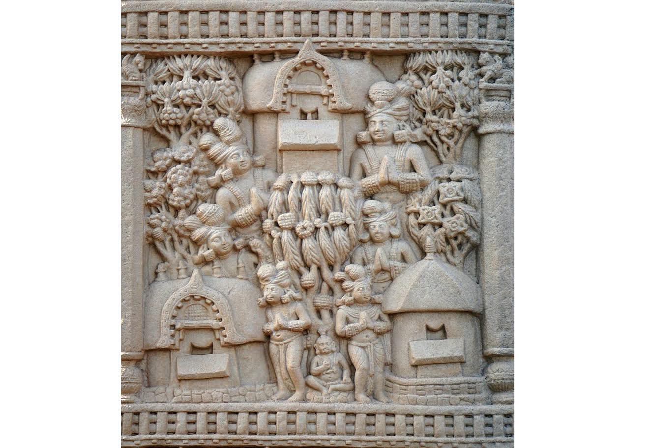 The Jetavana at Shravasti as depicted at Sanchi