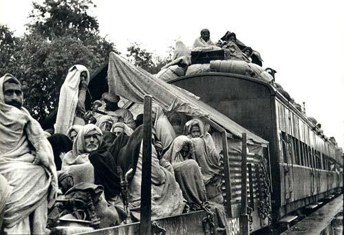 A refugee train on its way to Punjab, Pakistan
