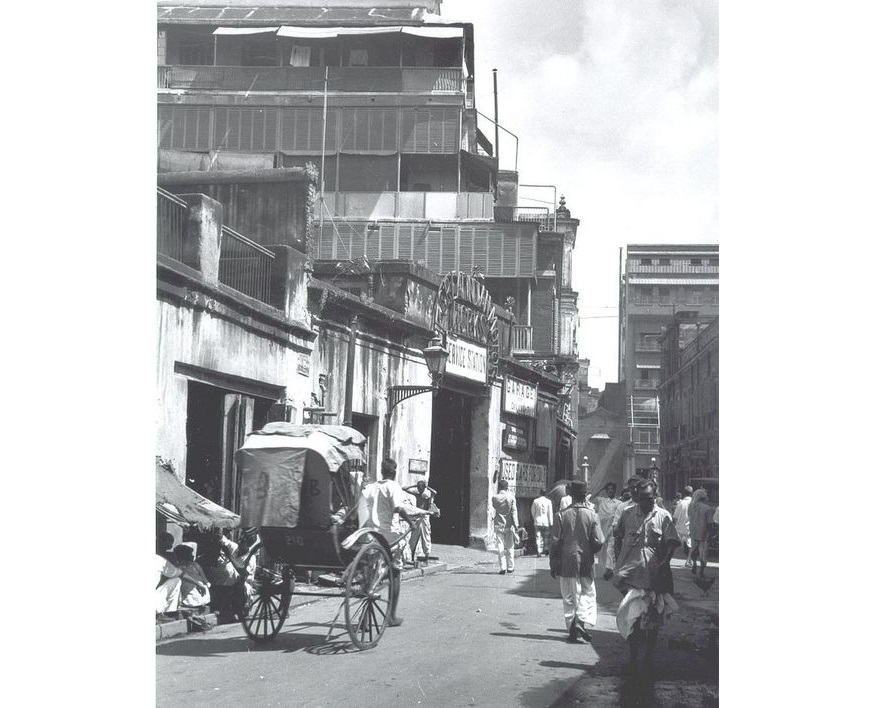 A side lane off Bentinck Street ( Cossaitollah), Kolkata in 1940s