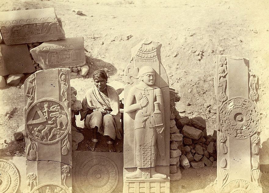 The first excavations by Cunningham 1874