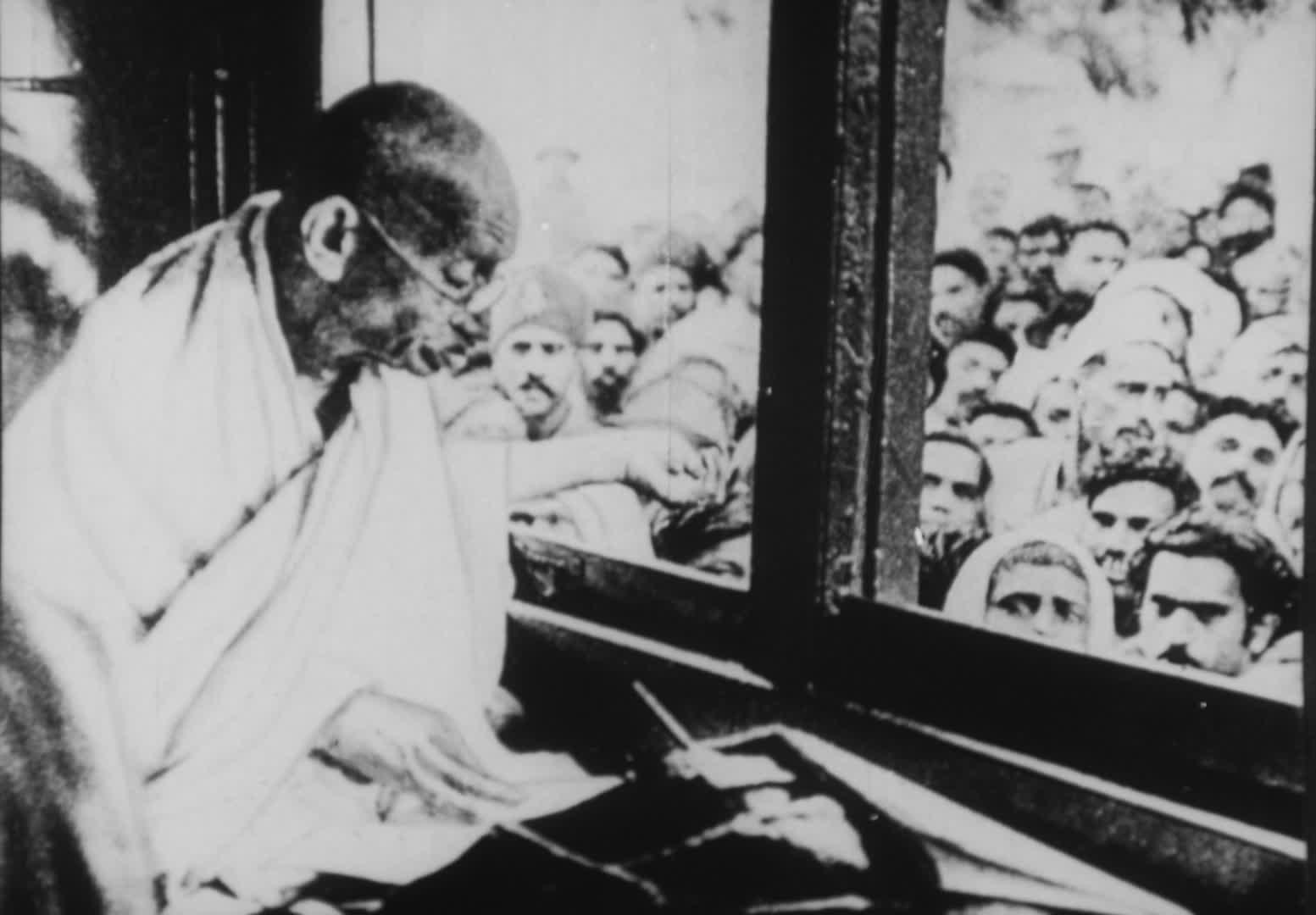 Gandhi, on the way to Noakhali