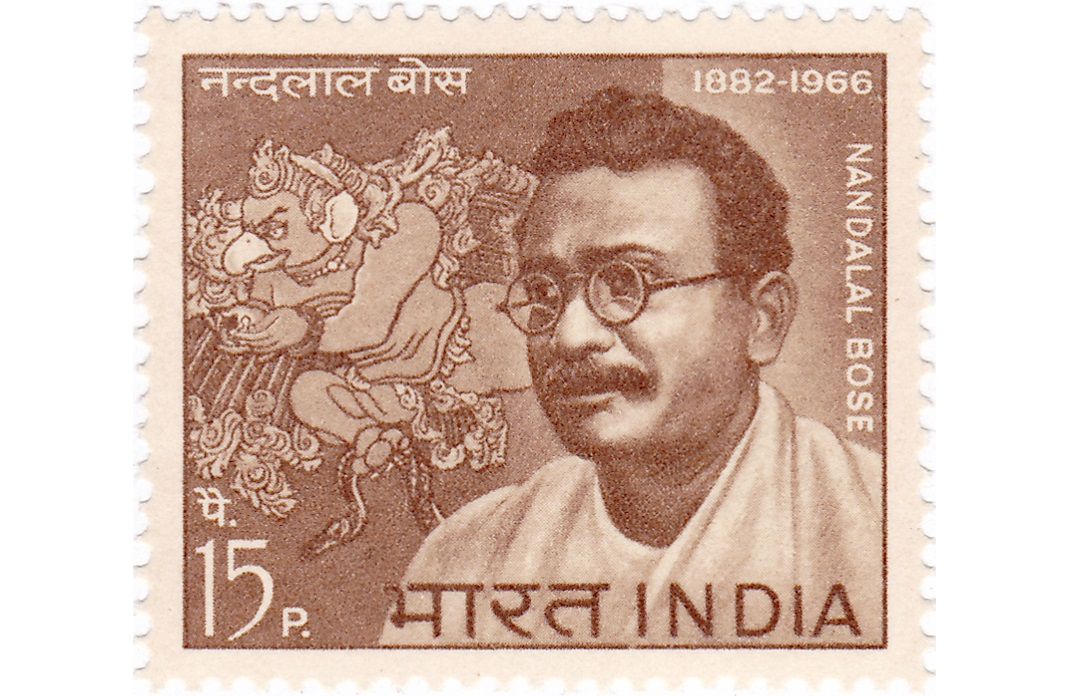 Stamp issued in honour of Nandalal Bose