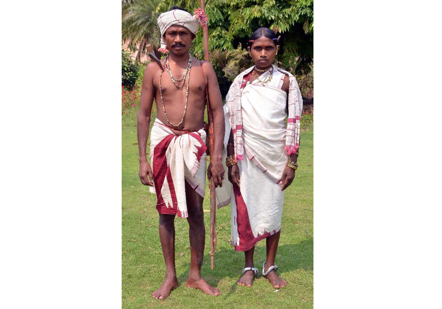 Members of the Dharua tribe wearing Kotpad