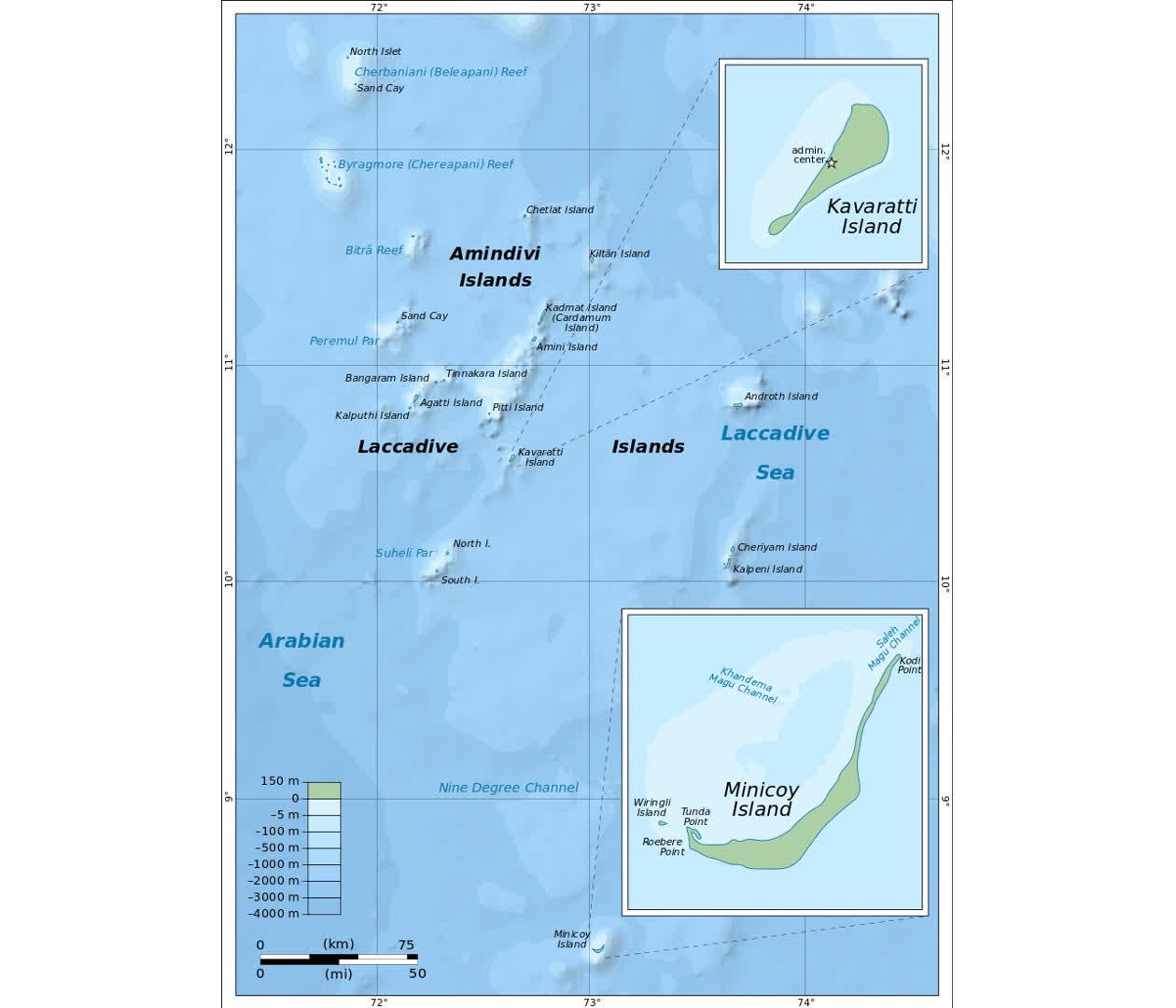 Map of Lakshadweep