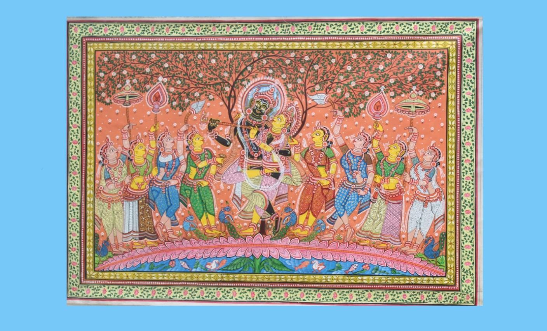 Pattachitra depicting Radha Krishna   Niranjan Moharana