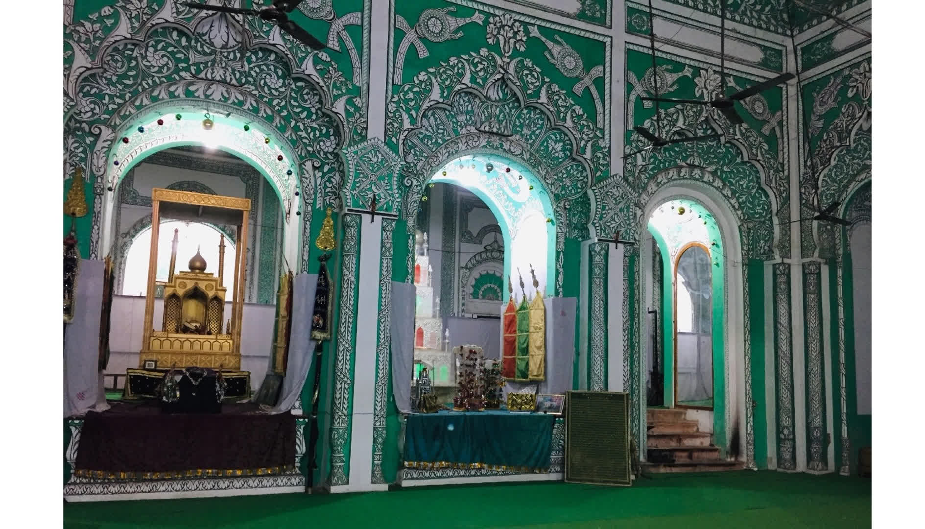 Sibtainabad Imambara from the inside