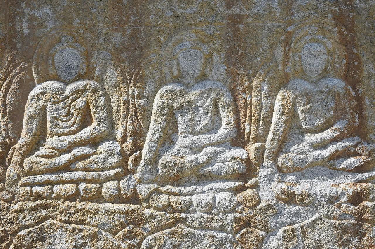 Buddhist sculptures along the Gilgit-Baltistan