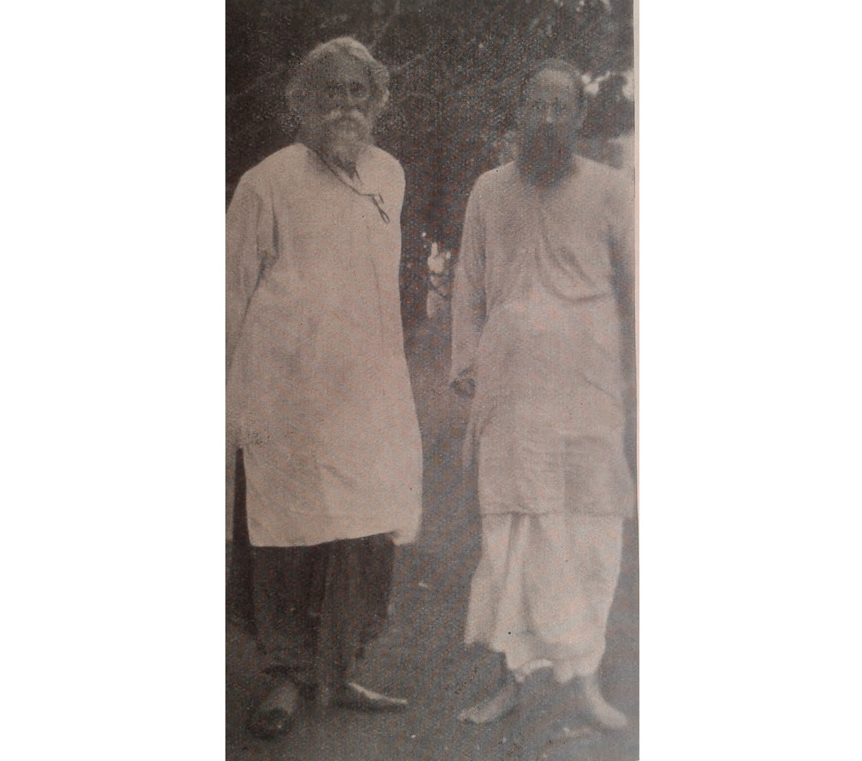 Andrews in a dhoti (right)